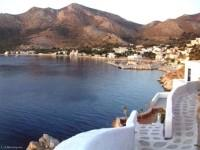 Greek Vacation in Tilos Livadia Port. The main town (Megalo Horio),  is 8 kilometers northwest of the port.greek vacation