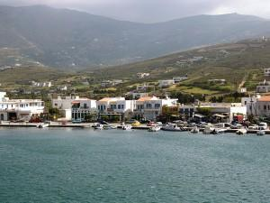 Andros Port from the Ship Vacation