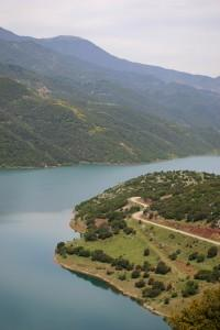 Mornos Artificial Lake. For a long time, fresh water provider to Athens. Vacation