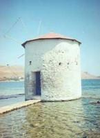 Greek Vacation in Leros Windmill in the Seagreek vacation